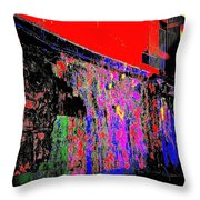 Colorwall Throw Pillow