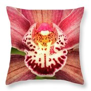 Outstanding Orchid Throw Pillow