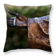 Outstretched Hand Throw Pillow