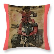 Outta My Way Throw Pillow
