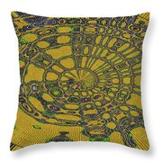 Oval Abstract Maple Leaf  Throw Pillow