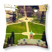Oval At University Of Montana  Throw Pillow