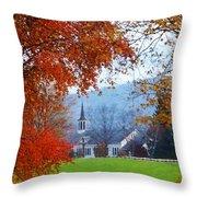Oval United Methodist Church Throw Pillow