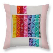 Over And Under The Rainbow Throw Pillow