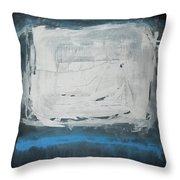 Over Blue Throw Pillow