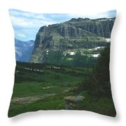 Over Logan's Pass Throw Pillow