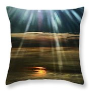 Over Rivers Of Gold Throw Pillow