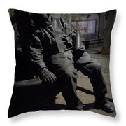 Over Served Throw Pillow