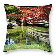 Over Springtime Pond Throw Pillow