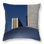 Over The Bean Throw Pillow