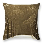 Over The Bridge Throw Pillow by Brian Roscorla