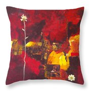 Over The Broken Fence Throw Pillow