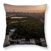Over The City Central Park Throw Pillow