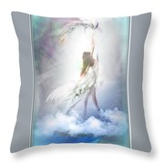 Over The Cloud Throw Pillow
