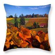 Over The Durant Vineyards Throw Pillow