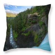 Over The Edge  Throw Pillow by Michael Ver Sprill
