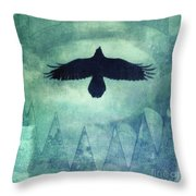 Over The Edges Throw Pillow