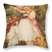 Over The Garden Wall Throw Pillow by Frederick Morgan