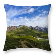 Over The Glaciers Throw Pillow