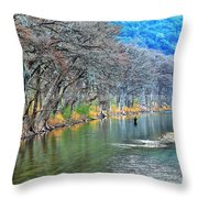 over the Guadalupe Throw Pillow