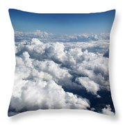 Over The Heavenly Clouds Throw Pillow