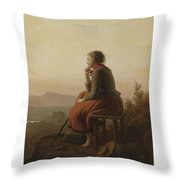 Over The Hills And Far Away Throw Pillow