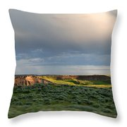 Over The Land Throw Pillow