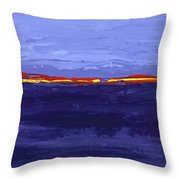 Over The Line Blue Throw Pillow