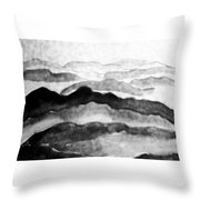 Over The Mountain  Throw Pillow
