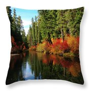 Over The Mountains And Thru The Trees Throw Pillow