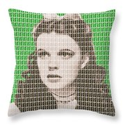 Over The Rainbow Green Throw Pillow