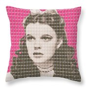 Over The Rainbow Pink Throw Pillow