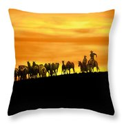 Over The Rim Throw Pillow