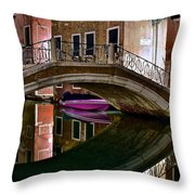 Over The River And Through The Buildings Throw Pillow
