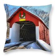 Over The River And Through The Woods Throw Pillow