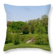 Over The River And Through The Woods In Summer Throw Pillow