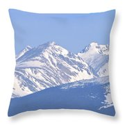 Over The Rockies Throw Pillow