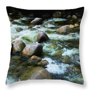 Over The Boulders - Mossman Gorge, Far North Queensland, Australia Throw Pillow