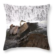 Over The Rocks We Go Throw Pillow