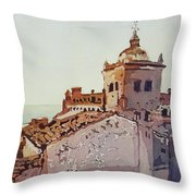Over The Rooftops, Caceres Throw Pillow