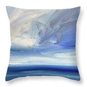 Over The Shore Throw Pillow