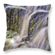 Over The Stones Throw Pillow