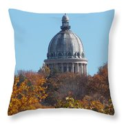 Over The Tree Tops Throw Pillow