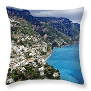 Overall View Of Part Of The Amalfi Coast In Italy Throw Pillow