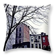 Overcast And Cold Throw Pillow