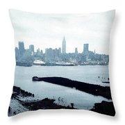 Overcast City Throw Pillow