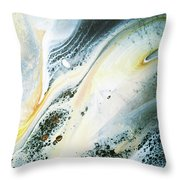 Overcast Sea Abstract Throw Pillow