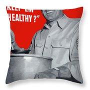 Overcooking Destroys Vitamins Throw Pillow