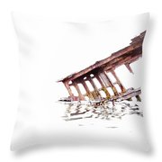 Overexposed Peter Iredale Throw Pillow