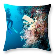 Overgrown Coral Throw Pillow